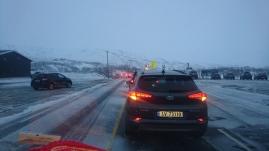 Convoy at RV7 Hardangervidda