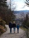 Descent from Fløien